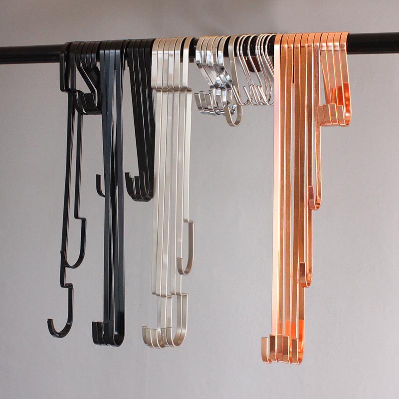 服装店s钩子批發不锈钢金属无痕加长s型挂勾衣架厨房门后墙壁衣橱