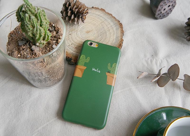 青桃原创仙人掌苹果8手机壳绿色iphone7plus全包软壳xsmax保护套