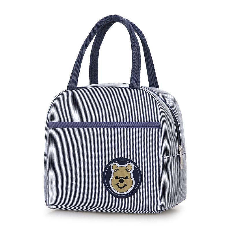 饭盒包手提便当包手拎饭盒袋学生韩版带饭小布包小熊帆布妈咪女包