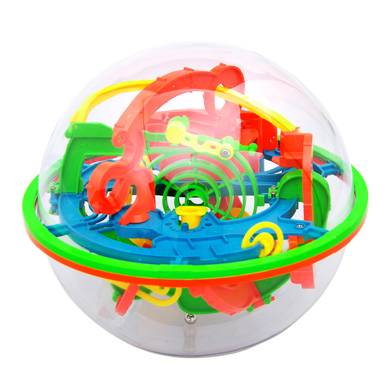 最强大脑 爱可优3d立体迷宫球儿童走珠益智玩具高级超大号幻智球
