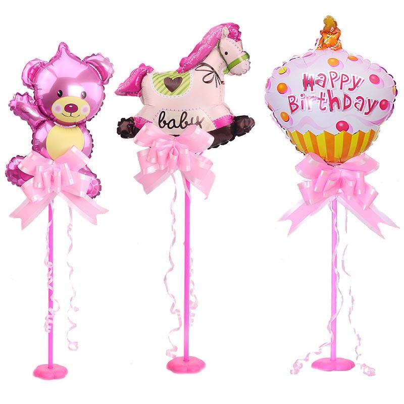 桌飘气球立柱宝宝周岁生日场景装饰儿童成人生日餐桌布置气球支架