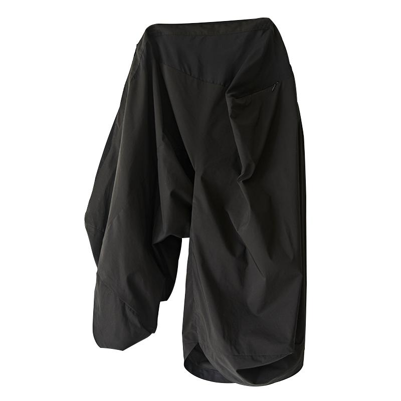 不对称薄款休闲五分裤宽松短裤