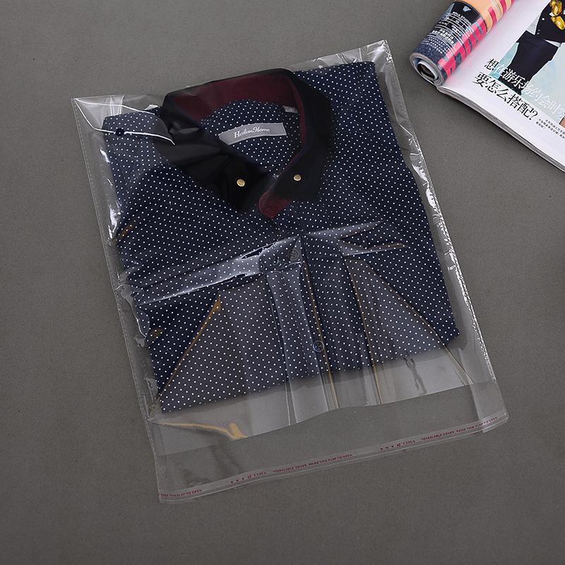 24*34 OPP不干胶自粘袋透明袋子自封袋服装塑料袋衣服包装袋100个