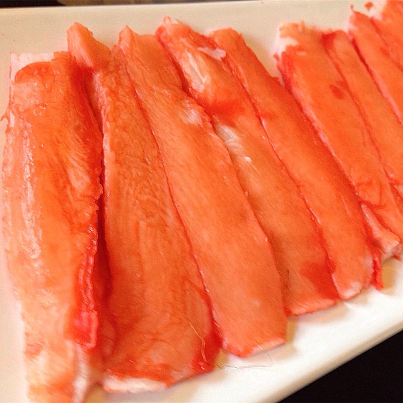 蟹肉棒松叶蟹柳寿司料理火锅蟹足肉 500g 泰国进口纪文力二味蟹柳棒