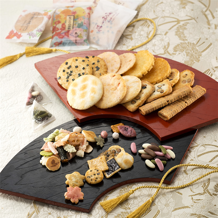 小仓山年末礼盒仙贝零食礼包米果脆米饼日式茶点 日本直邮