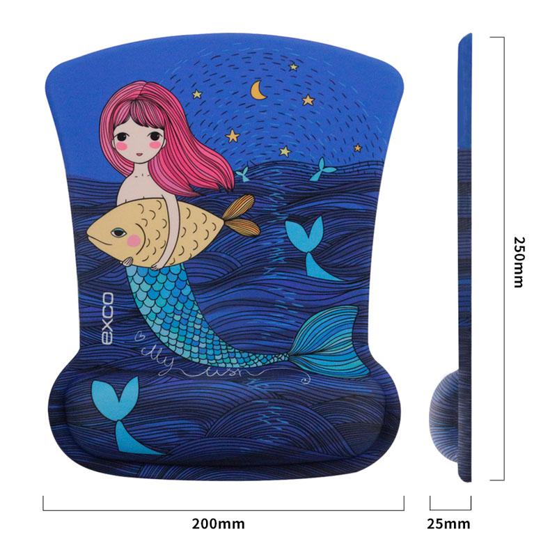 3D艺术鼠标垫护腕女生可爱EXCO办公小号电脑游戏动漫手托护腕垫