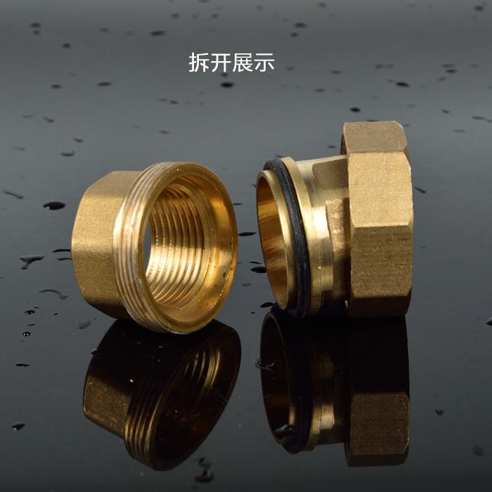 全铜加厚 双内丝铜活接 内牙铜活接直接水泵 水管接头4分6分1寸