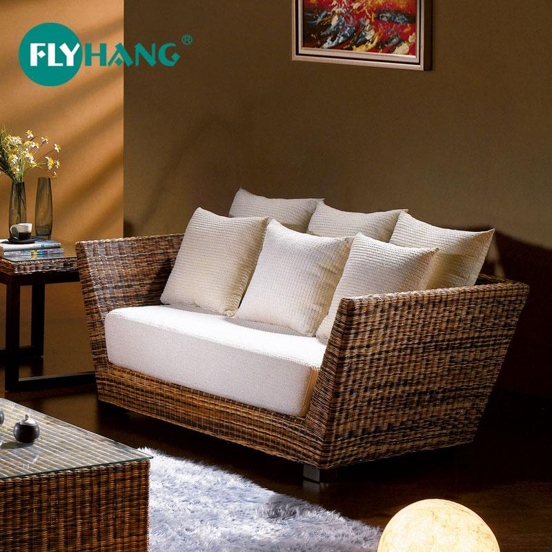 飞藤行 藤沙发客厅组合沙发茶几五件套小户型沙发布艺简约藤沙发