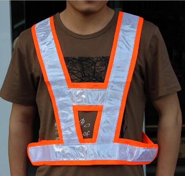 包邮反光衣 v型背心马甲反光工作服耐寒反光背心 交通路政反光衣