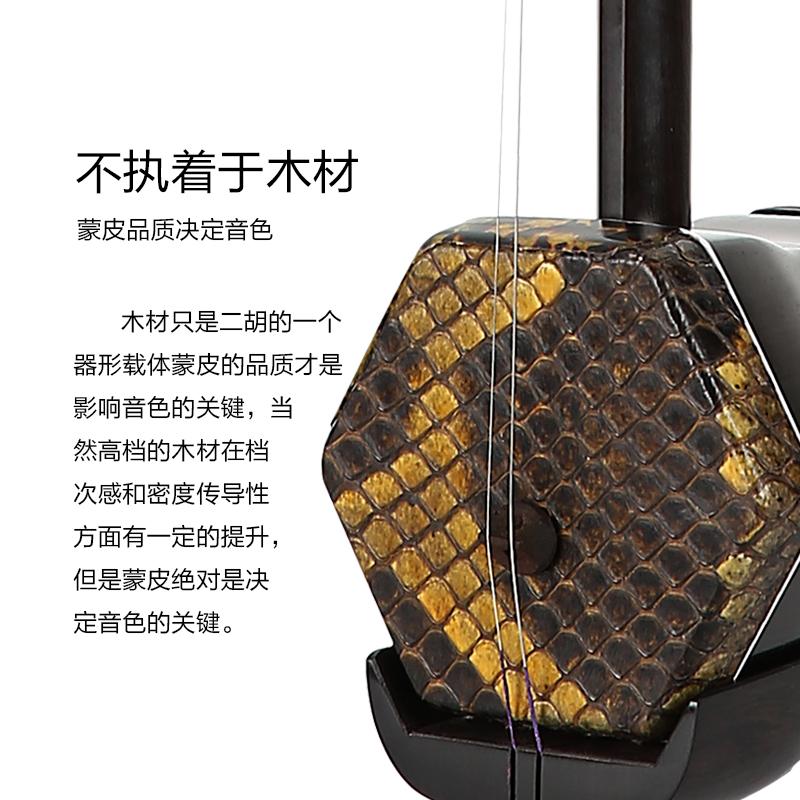 初学者专业大人二胡乐器厂家直销胡琴 黑檀红木 5207 SY
