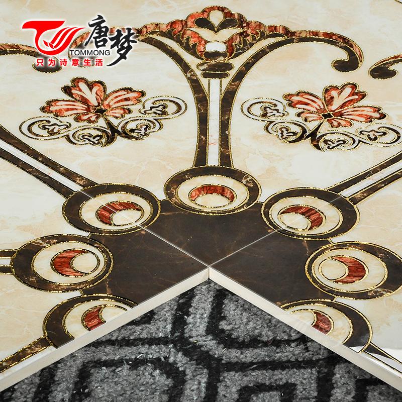 唐梦欧式地板砖瓷砖入户玄关地砖拼花客厅微晶石餐厅地面造型拼图