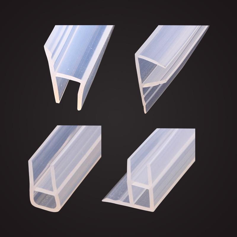 h型玻璃门密封条防风条无框阳台门窗浴室门底门缝淋浴房防水胶条