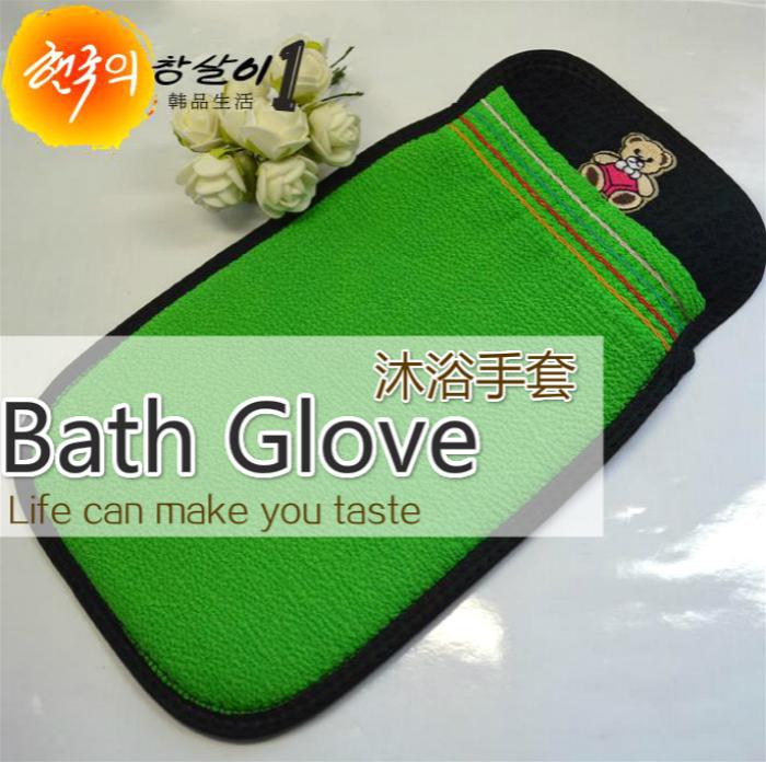 洗澡省力澡巾!品牌雙面夾棉搓澡巾 刺繡沐浴手套 不縮水很好用