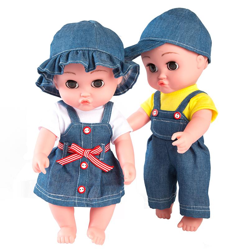 儿童仿真婴儿软胶洋娃娃会说话的毛绒玩具布娃娃可爱女孩玩偶公仔