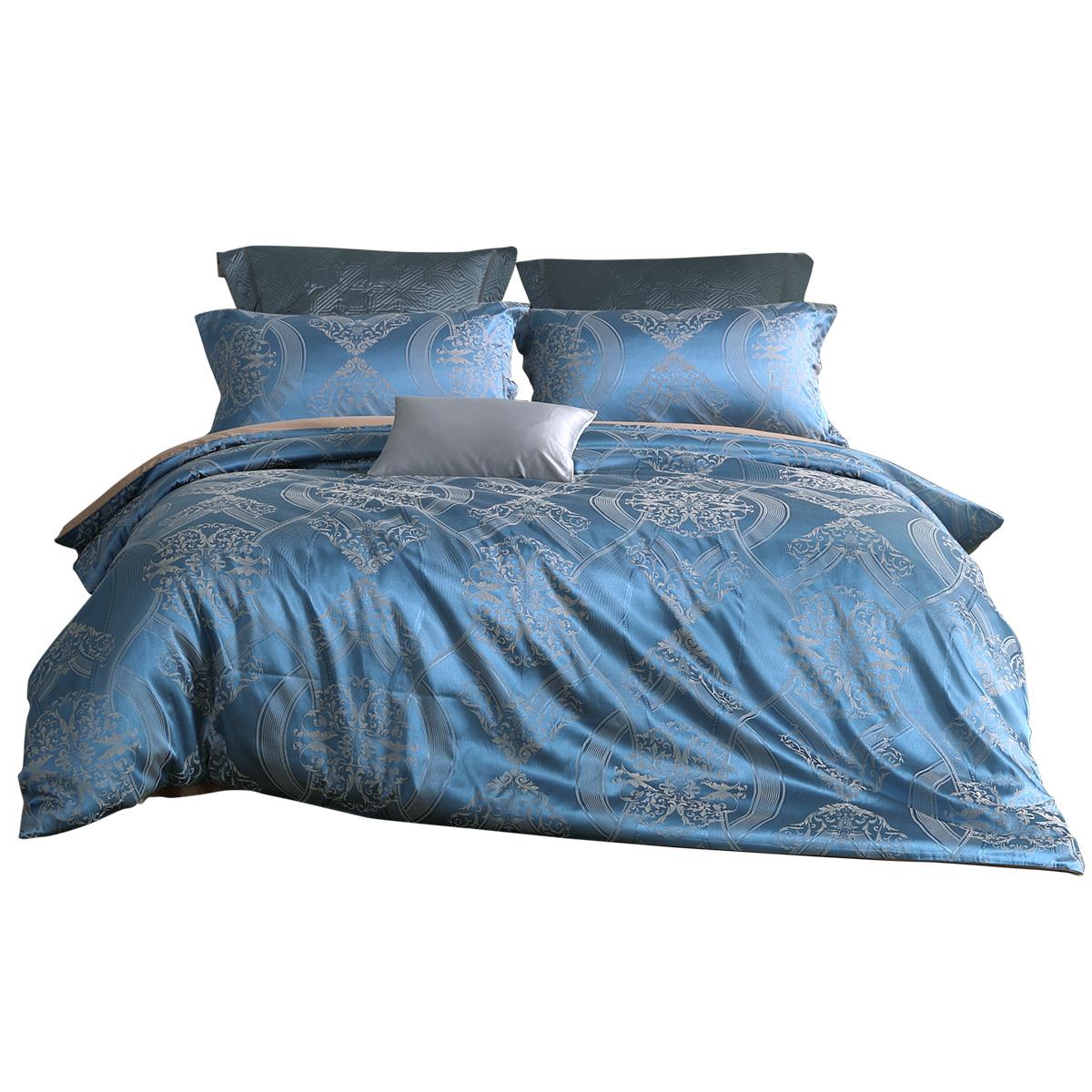 新品 19 米床上用品 1.8 欧式提花套件简约四件套巴黎夜色 水星家纺