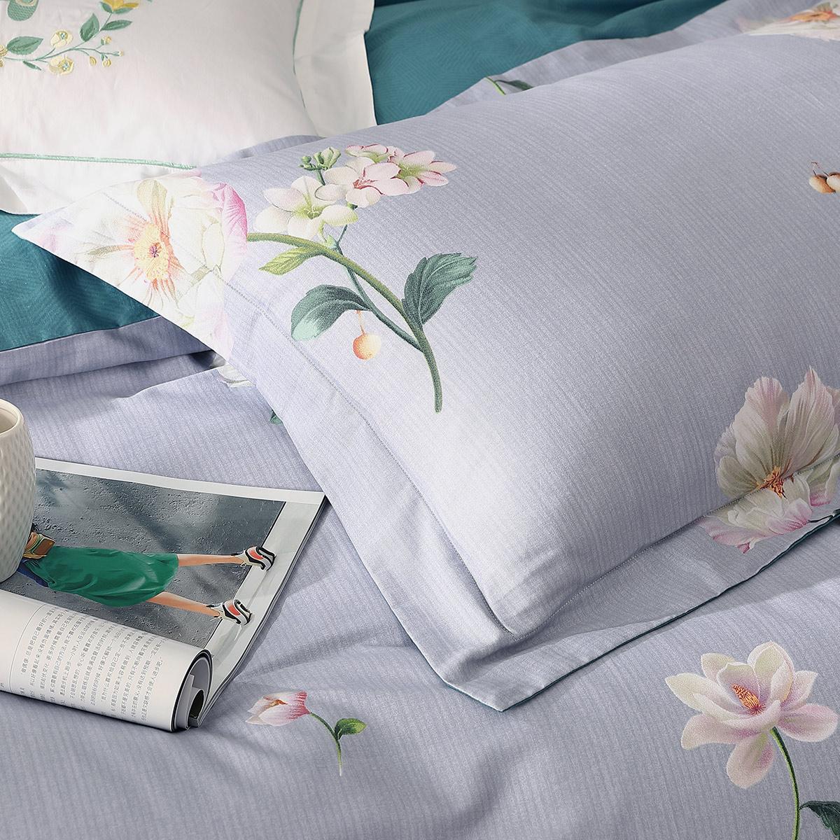 床单被套纯棉套件安逸若兮秋冬新品 全棉四件套床上用品 水星家纺