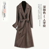 2020 Spring and Autumn new Slim woolen coat woolen coat Korean-season double-sided cashmere coat Girls long section