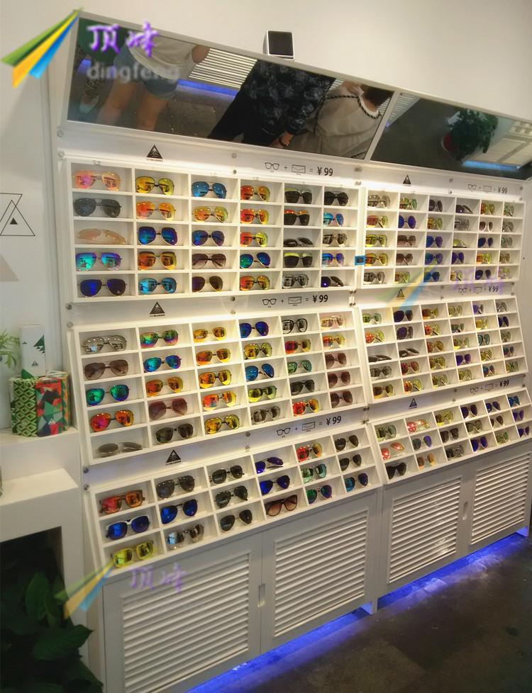眼镜货架展示柜开放式太阳镜眼镜柜台眼镜展示道具眼镜店货架定制