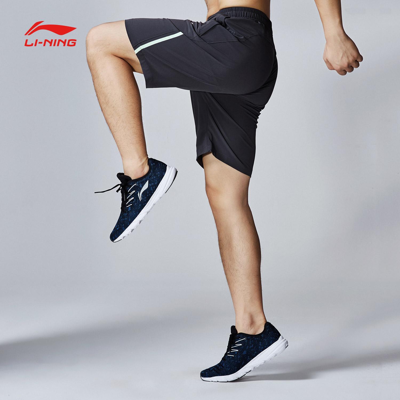 李宁运动短裤男士新款训练系列梭织短装运动裤AKSM117