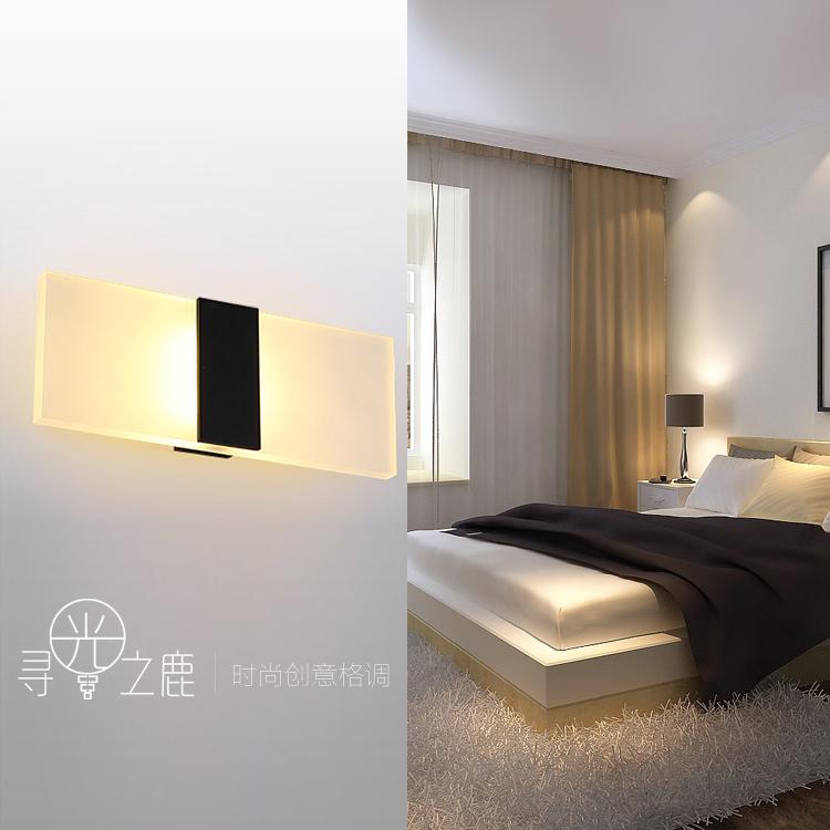 LED长方形床头灯壁灯客厅卧室阳台简约现代过道墙壁灯饰工程灯具