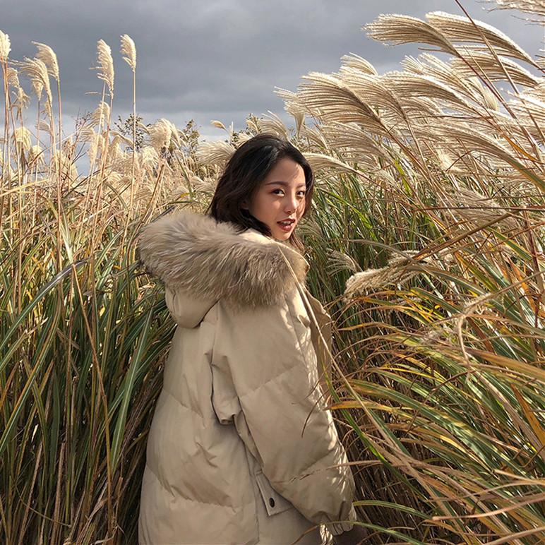 棉服女2018新款冬季ins面包服过膝外套中长款棉袄学生羽绒棉衣潮
