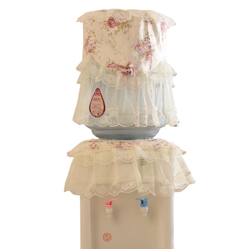 饮水机套防尘罩蕾丝饮水机罩两件套饮水机桶罩家用水桶罩现代简约