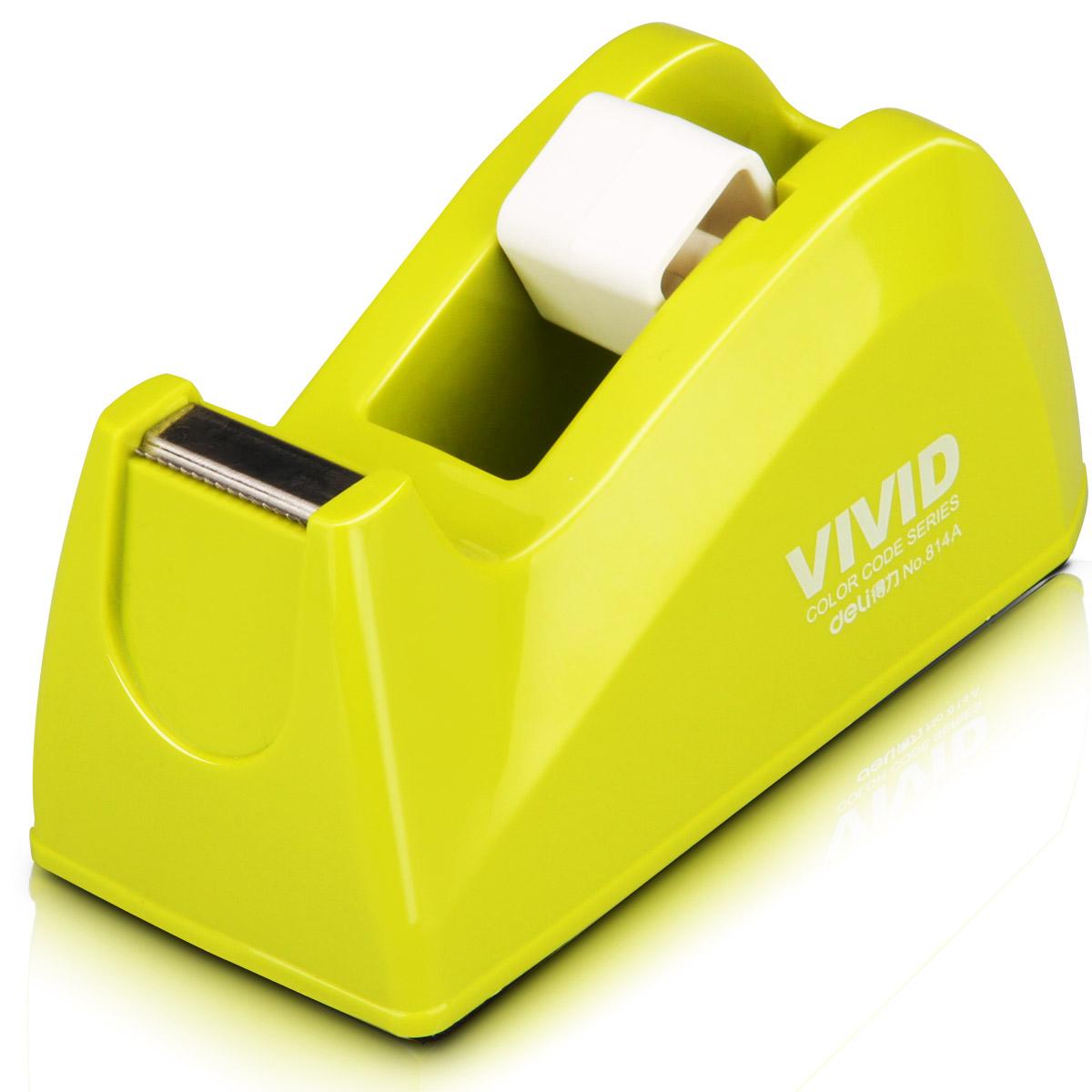 得力814A彩色胶带座时尚胶带切割器小号胶带座创意胶带小颜色随机
