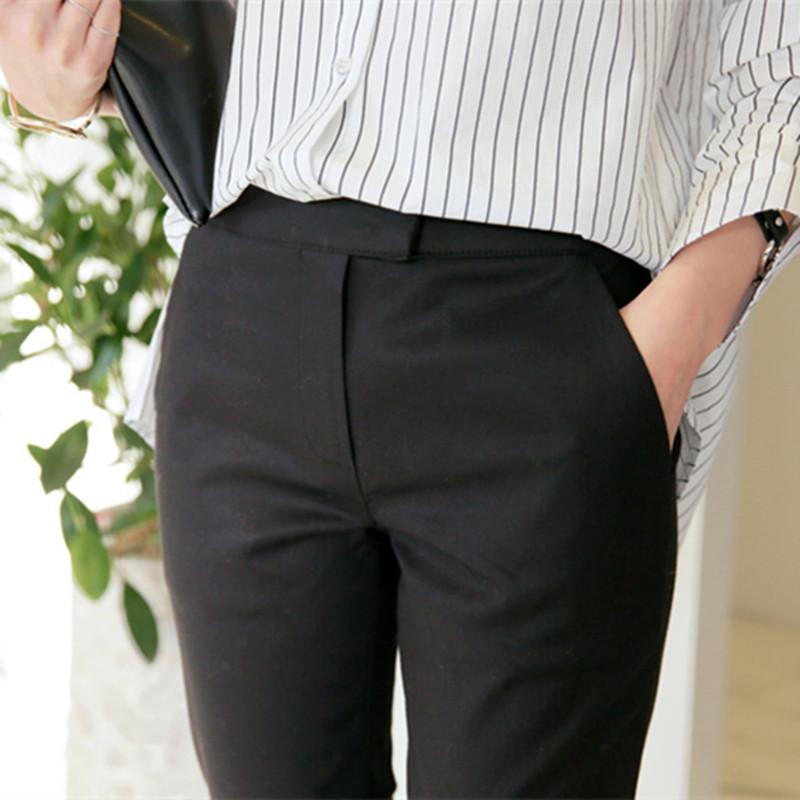 春夏西装裤女韩版小脚九分裤西裤职业灰色工作裤OL高腰显瘦女裤子