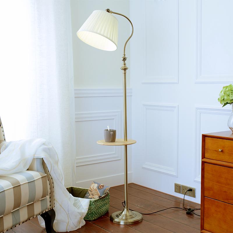 落地台灯 简约美式复古落地灯客厅卧室床头沙发书房阅读立式茶几