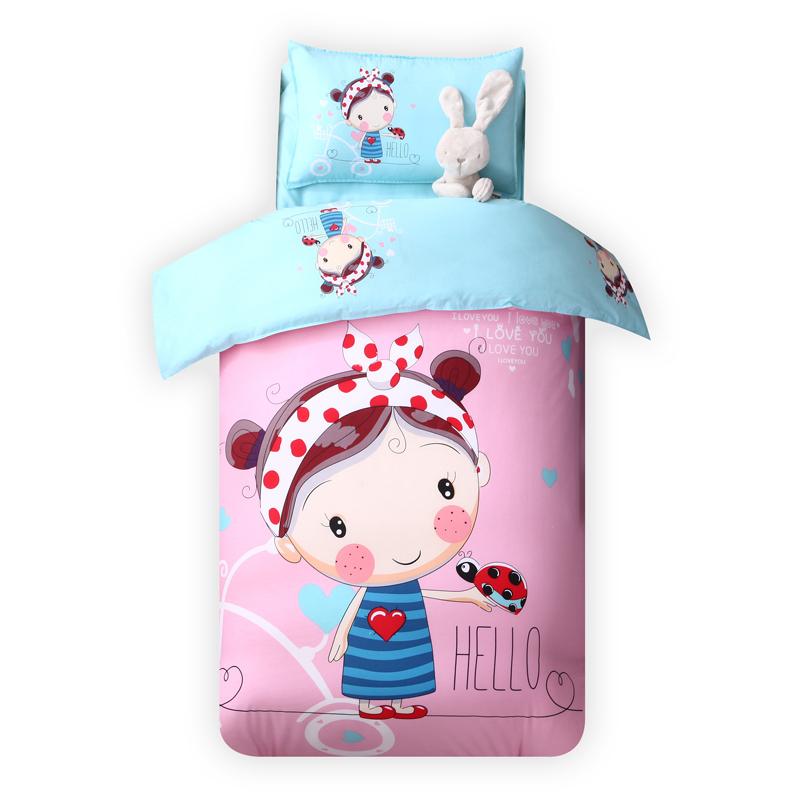 幼儿园被子三件套纯棉含芯宝宝入园床品套装儿童床午睡被褥六件套