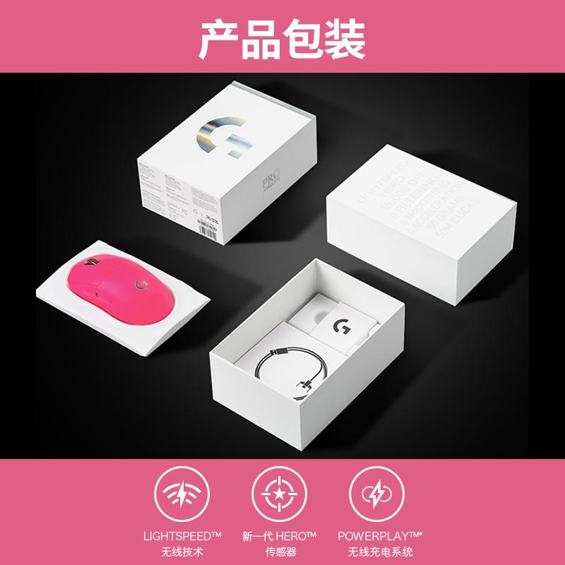 狗屁王 LOL 无线鼠标电竞无线充电双模电脑吃鸡 GPW 粉色 wireless Pro G 罗技