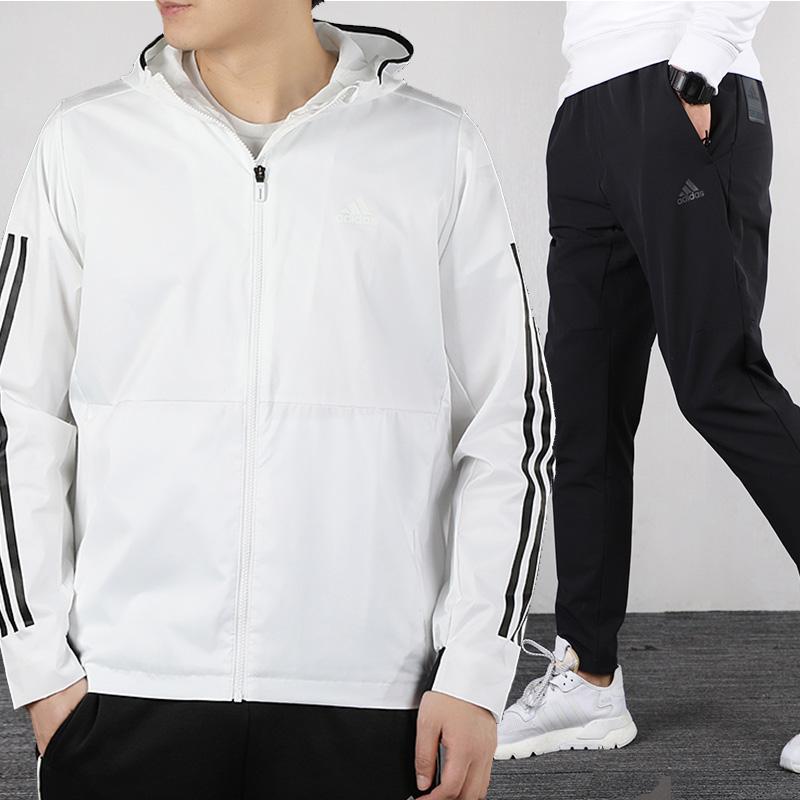 阿迪达斯运动套装男士2020春季新款运动服宽松外套夹克休闲裤长裤