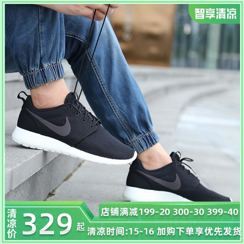 Nike耐克男鞋ROSHE RUN板鞋2019夏季新款運動鞋輕便透氣休閒鞋