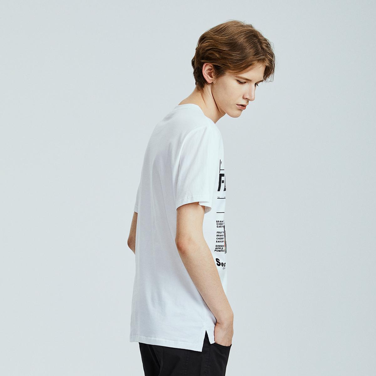商场同款马克华菲短袖T恤男装2019夏新款韩版字母印花全棉上装