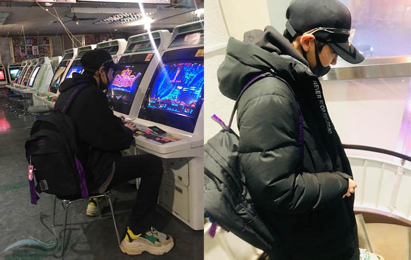 同款正品韩国采购紫飘带双肩包背包 ins 朴灿烈 exo 李知勋 seventeen