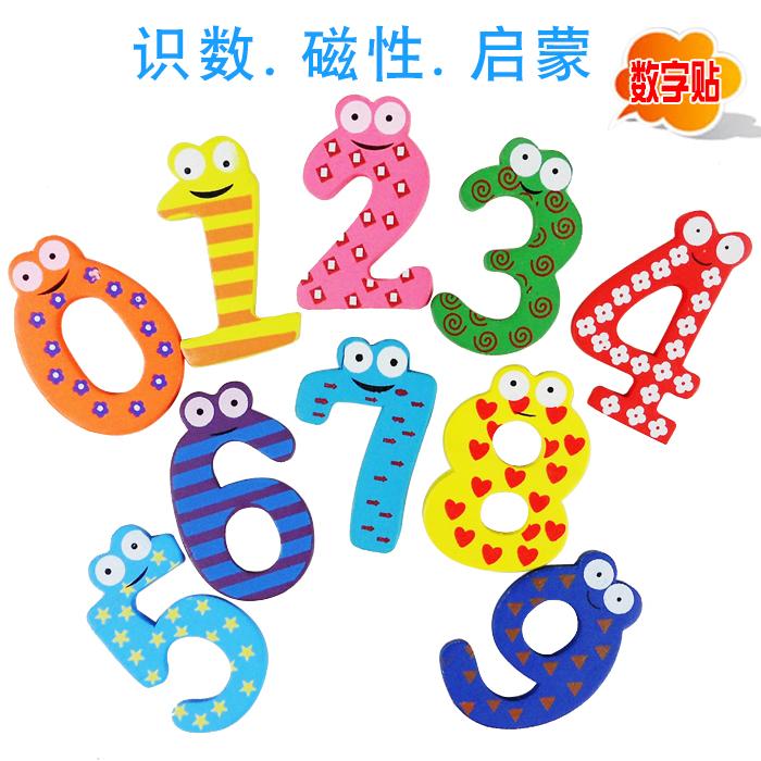木質早教冰箱貼磁貼益智玩具磁性貼字母拼音數字貼兒童卡通貼