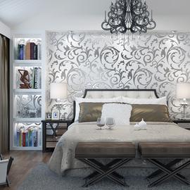 现代简约3d立体电视背景墙壁纸客厅卧室欧式奢华高档大气简欧墙纸