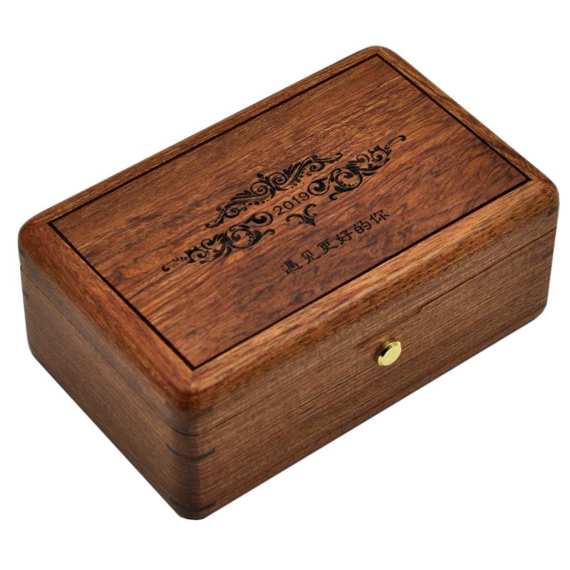 定制 DIY 刻字木质首饰盒音乐盒八音盒女生生日礼品创意情人节礼物