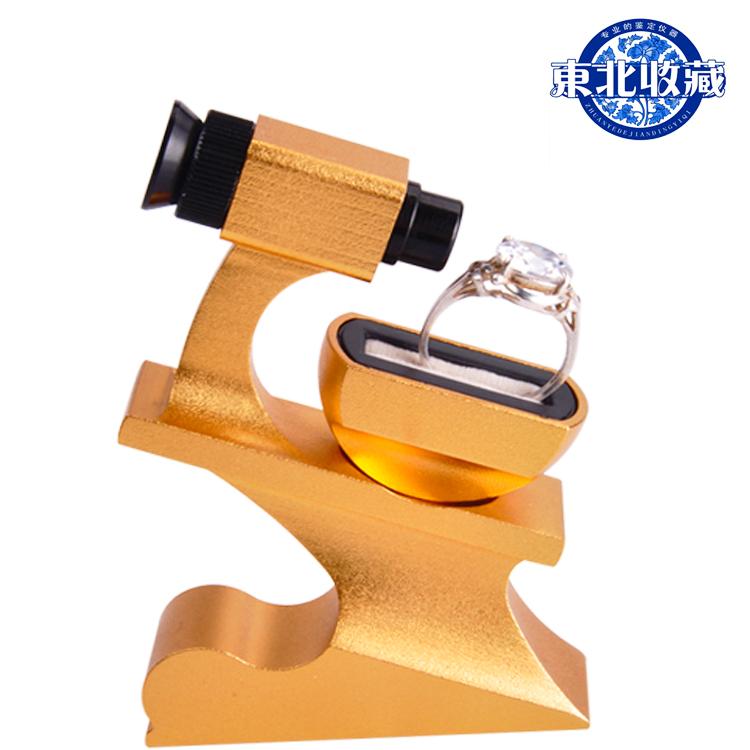 钻石腰棱镜10倍放大镜鉴定工具金色钻婚戒裸钻腰码镭射码GIA仪器