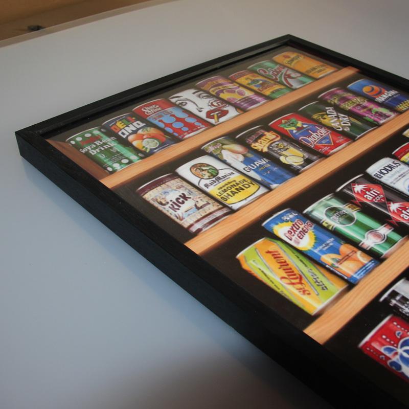 木質拼圖相框裱框2000片3000片5000雷諾瓦汽水罐掛牆裝飾畫框定製