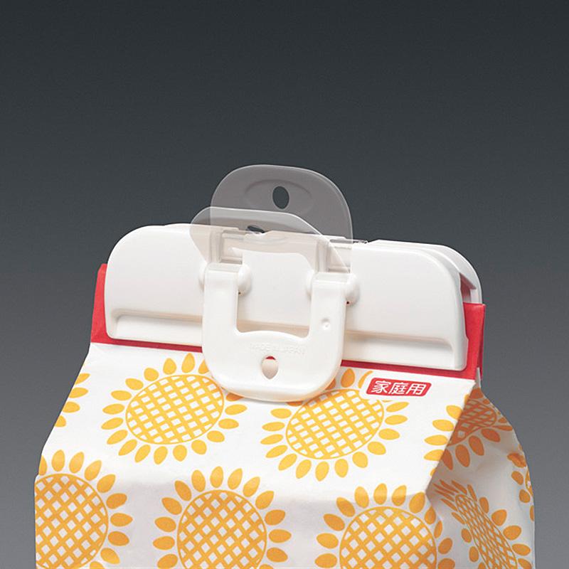 日本KM正品 大號中號密封出料嘴 食品封口夾密封夾2個裝薯片夾