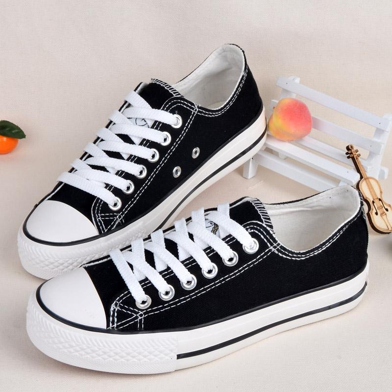 步祥F10Bb·Girl 原宿ulzzang帆布鞋女學生百搭小白鞋ins街拍布鞋