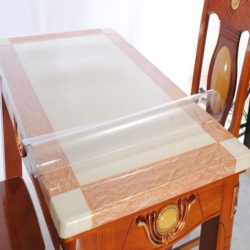 软塑料玻璃PVC桌布防水防烫防油免洗透明餐桌垫茶几垫台布水晶板