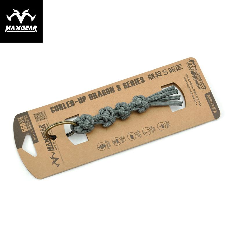 馬蓋先盤龍S2 戶外戰術編織手環手工鑰匙圈傘繩尼龍掛飾配件