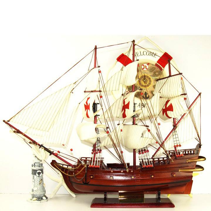 包邮超大号加勒比海盗英国皇家海军胜利号圣玛丽亚号帆船模型地