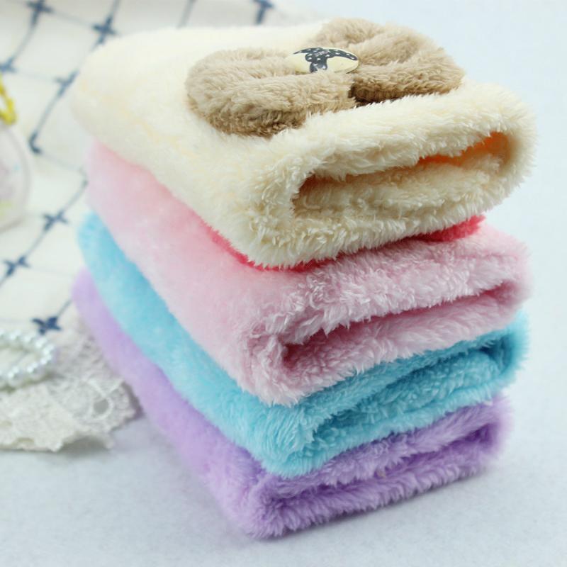 大码袖套学生半指手套冬季韩版女可爱加绒露指蝴蝶结保暖毛线手套