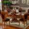 实木欧式圆餐桌椅组合美式圆桌大桌子酒店饭桌子1.3/1.5/1.8米