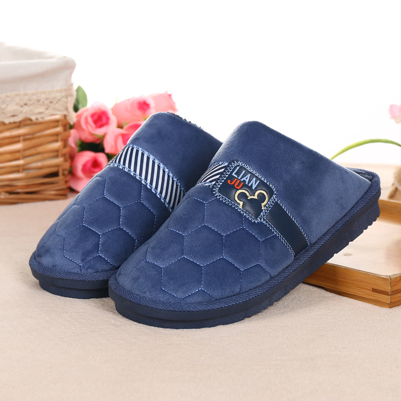 加肥加厚加大码棉拖鞋男46 47 49码冬季保暖防滑厚底包头男鞋拖鞋