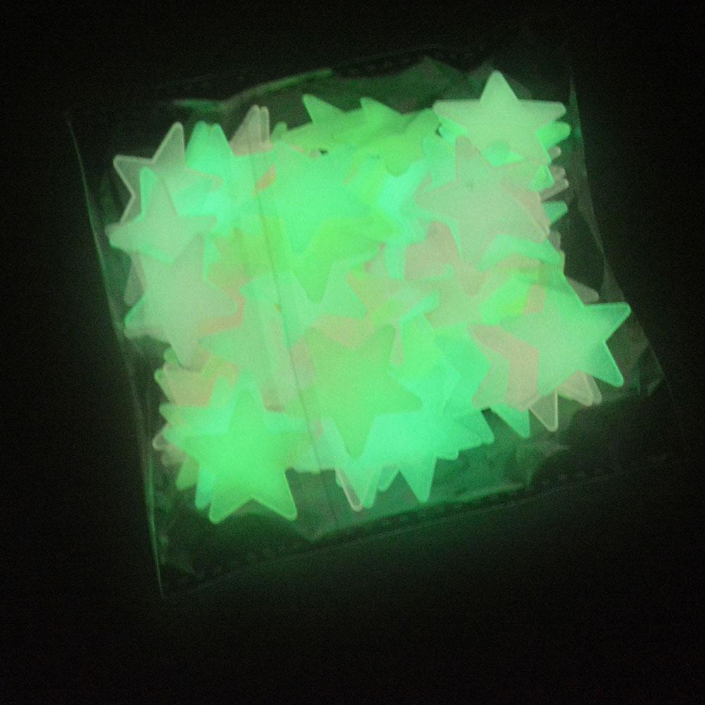 迴圈3D夜光熒光彩色星星牆貼創意立體牆貼臥室兒童房宿舍寢室裝飾