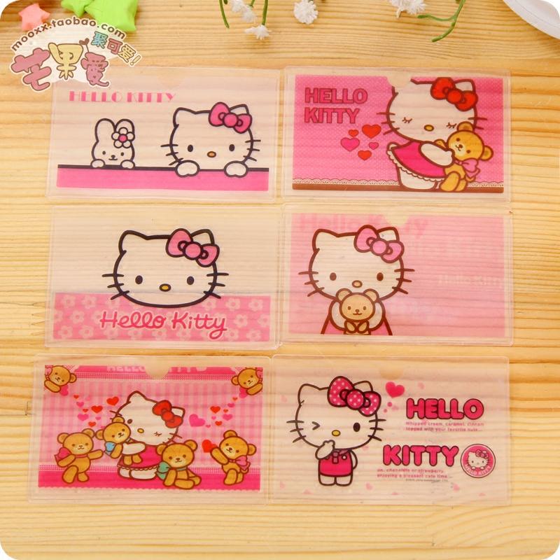卡通hello kitty交通卡套 可愛證件套 韓國工作證透明塑料卡套